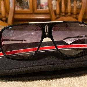 Carrera Black Aviator Sunglasses NWT Cool/s